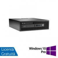 Calculator HP Elitedesk 705 G2 SFF, AMD A10-8700P 1.80GHz, 4GB DDR3, 120GB SSD + Windows 10 Pro