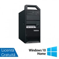Workstation Lenovo ThinkStation E30 Tower, Intel Xeon Quad Core E3-1220 3.10GHz-3.40GHz, 8GB DDR3, 500GB SATA, nVidia NVS 300/512MB, DVD-ROM + Windows 10 Home