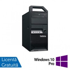 Workstation Lenovo ThinkStation E30 Tower, Intel Xeon Quad Core E3-1220 3.10GHz-3.40GHz, 8GB DDR3, 500GB SATA, nVidia NVS 300/512MB, DVD-ROM + Windows 10 Pro