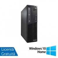 Calculator Lenovo Thinkcentre M73 SFF, Intel Core i3-4130 3.40GHz, 4GB DDR3, 500GB SATA + Windows 10 Home