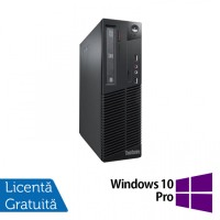 Calculator Lenovo Thinkcentre M73 SFF, Intel Core i7-4770 3.40GHz, 4GB DDR3, 500GB SATA, DVD-ROM + Windows 10 Pro