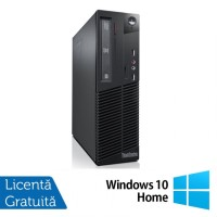 Calculator LENOVO ThinkCentre M82 SFF, Intel Pentium G2020 2.90GHz, 4GB DDR3, 250GB SATA, DVD-ROM + Windows 10 Home
