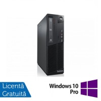 Calculator LENOVO ThinkCentre M82 SFF, Intel Pentium G2020 2.90GHz, 4GB DDR3, 250GB SATA, DVD-ROM + Windows 10 Pro