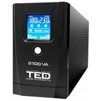 UPS TED Line Interactive 2100VA/1200W, display LCD, 2 x Schuko