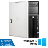 WorkStation HP Z400, Intel Xeon Quad Core W3520 2.66GHz-2.93GHz, 8GB DDR3, 500GB SATA, AMD Radeon HD 7350 1GB GDDR3, DVD-RW + Windows 10 Home